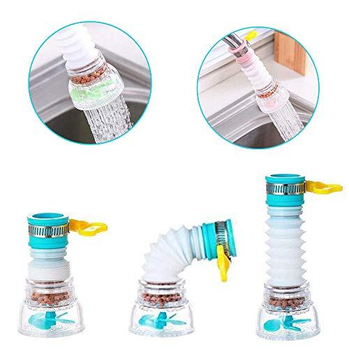 360-Grad-drehbarer Wasserhahn-Beschleuniger-Filter Wasserhahn Wasserfilter spritzwassergeschützter Küchenreiniger für Standard-Rundhähne Filter (3 Farbe)