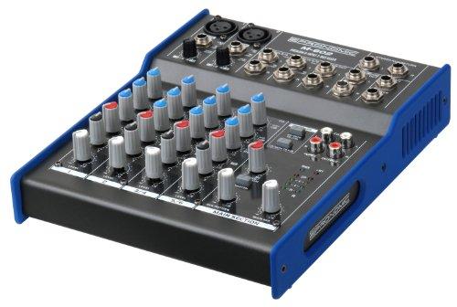 Pronomic M-602 Live/Studio Mischpult (2 Mono-Kanäle XLR/Klinke, 2-Stereo Kanäle, 3-Band-EQ, 48V Phantomspeisung)