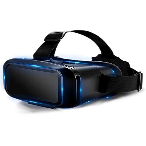 LHNEREGLHNEREG Caja De Gafas De Realidad Virtual 3D Inteligente, Ajustable De Auriculares VR Montados En La Cabeza De Miopía, para Teléfono Móvil De 4.7-6.9 Pulgadas
