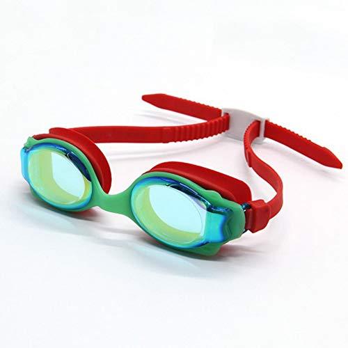 MHP hoogwaardige siliconen coating anti-condens zwembril kinderen anti-condens waterdichte siliconen bril rood 1