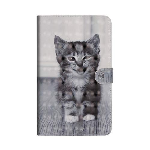 Huawei Mediapad M5 8.4 Zoll Hülle,JAWSEU Huawei Mediapad M5 8.4 Zoll Lederhülle - Smart Cover Tablet Hülle Katze 3D Muster PU Leder Flip Hülle Wallet Tasche Schutzhülle mit Ständer