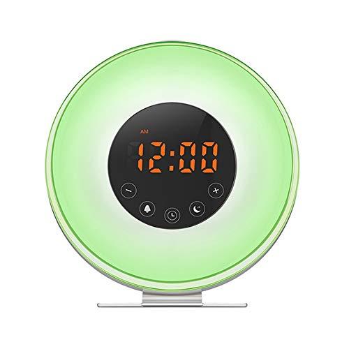 ZXY LED multifunción táctil Inteligente, Elegante Despertador de luz Sunrise/Sunset Ayuda para el Sueño de Reloj Digital con Radio FM para el Partido de los niños Dormitorio