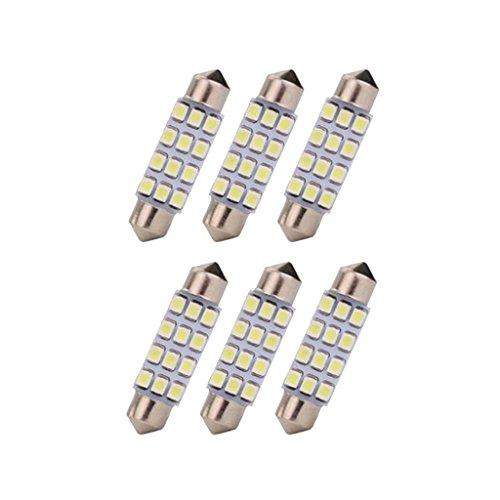 #N/a Lámparas LED 6 Piezas 6000K Blanco 42MM 12SMD 3528