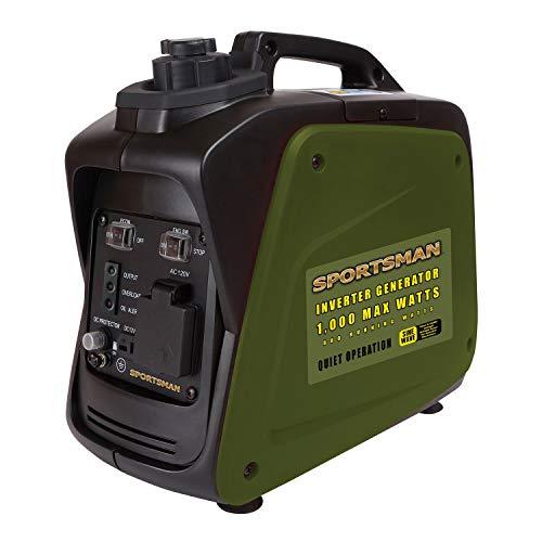 Buffalo Tools GEN1000I 1000 Watt Inverter Generator, black, green