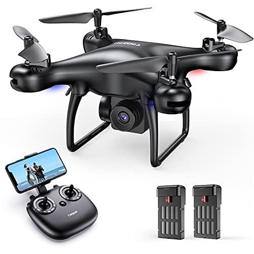 Tomzon Mini Drohne mit Kamera 1080P HD für Anfänger, FPV 2.4Ghz WiFi Live Übertragung, Verbesserter Propellerschutz, 3D-Flip, Schwerkraftsensor, Kopfloser Modus, Minidrohne für Kinder Erwachsene