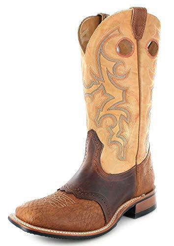 Boulet Herren Cowboy Stiefel 0231 EEE Butterscotch Westernreitstiefel Lederstiefel Braun 40.5 EU