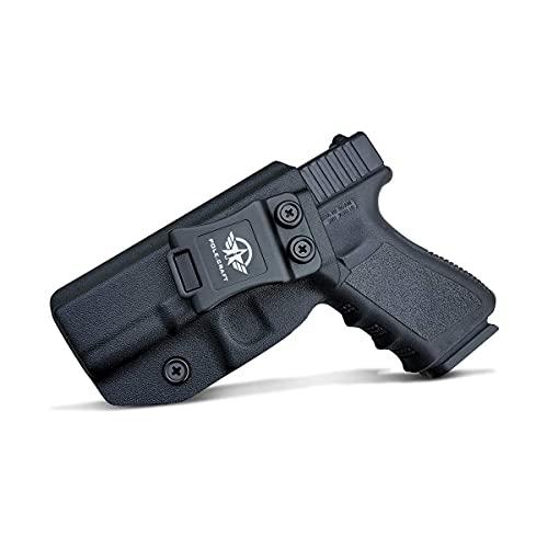 Glock 19 Holster IWB Kydex Holster for Glock 19 19X Glock 23 Glock 25 Glock 32 Glock 45 (Gen 3 4 5) - Inside Waistband Carry Concealed Holster Glock 19 IWB Pistol Case (Black, Left Hand)