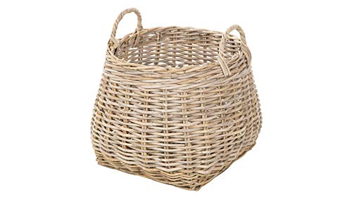 Kouboo Kobo Wicker Basket, Gray-Brown
