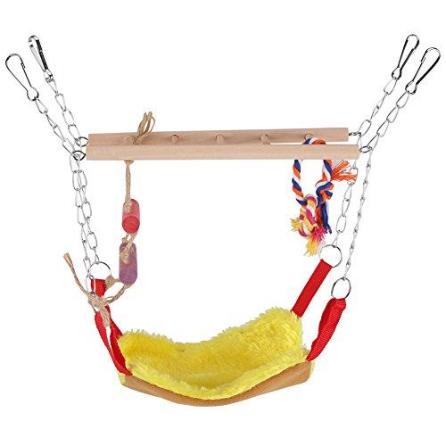 GLOGLOW - Escalera Flexible para Loro, Diseño de Pájaros, Juguete de Escalada para Colgar, Escalera para Loro, Puente de Columpio, Accesorios Decorativos