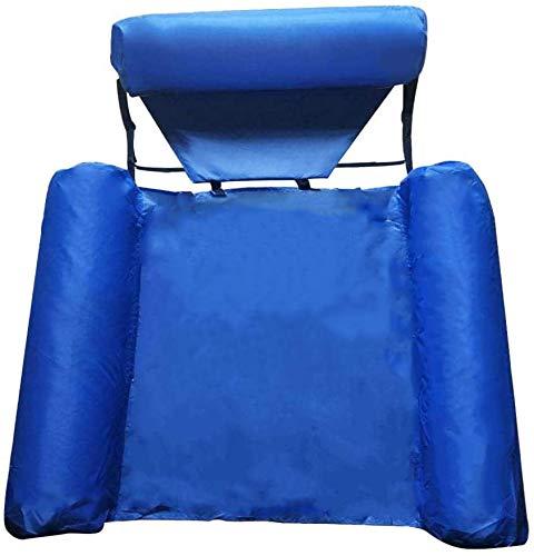 Echden Aufblasbares Wasserhängematte, Luftmatratze Pool 4-in-1Loungesessel Pool Lounge Luftmatratze Wasser Aufblasbares Hängematte Pool für Erwachsene und Kinder (Blue)