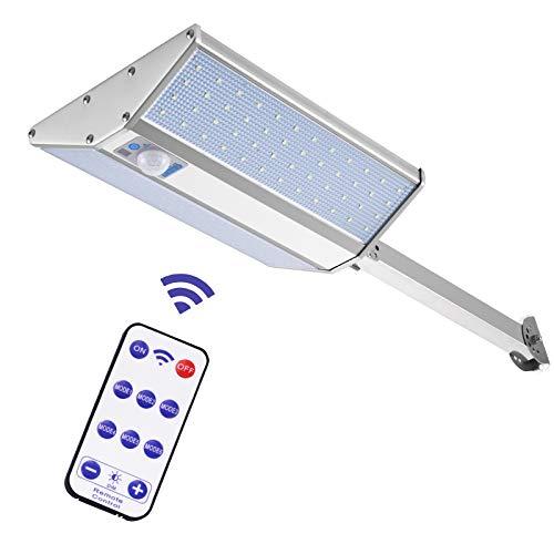 Luces Solares LED Exterior con Sensor Movimiento,Lacyie 96LED 3000LM Lámpara Solares Exterior Jardín con Mando a Distancia,Con 6 modos IP65 Focos Solares Impermeable Farola para el camino, entrada