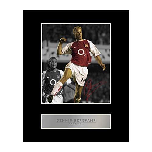 Signiertes Foto mit Passepartout, Dennis Bergkamp im Trikot von FC Arsenal