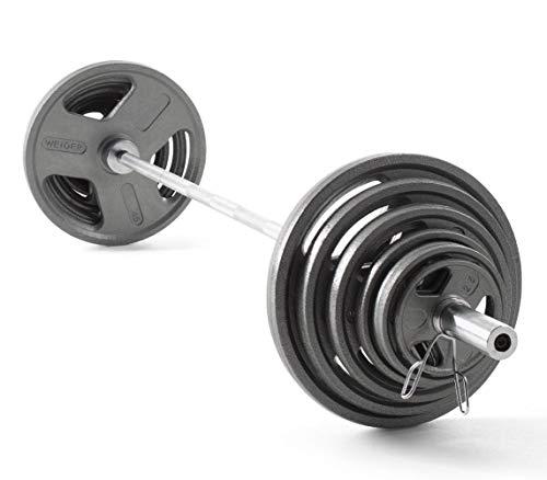 Weider Cast Iron Olympic Hammertone Weight Set, 210 Lb.