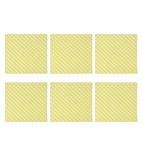 wosume Schallschutzschwamm, Schallschutzpolster Schaum Schalldämmendes Material für Studio-Innenwände 6St(Gelb)