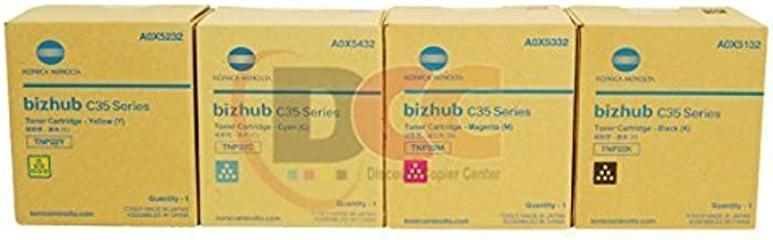 Genuine Konica Minolta TNP22 Toner Set for Bizhub C35