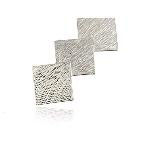 YouU Metall Klein Diamant Haarklammern Vintage Diamant förmigen Haarspangen Haarschmuck Kopfschmuck Haar Zubehör (Silber)