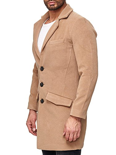 Red Bridge Mannen Trenchcoat Mantel Parka Detective Winter Jacket Camel Beige