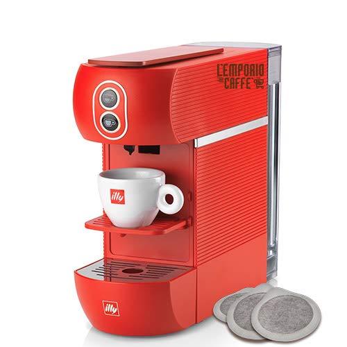 Nuova Macchina da Caffè a Cialda Illy ESE 44 mm Filtro Carta Colore Rosso