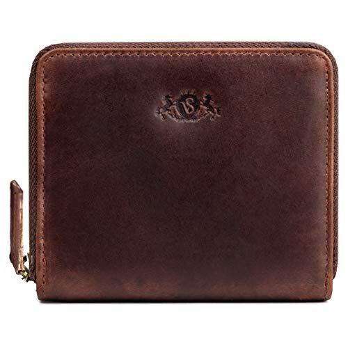 SID & VAIN portemonnee echt leer Hannah kleine portemonnee portemonnee lederen portemonnee dames bruin