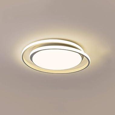 Towyoy Nouvelle lampe de chambre ronde de luxe légère simple moderne LED plafonnier de plafonnier créatif salon salle à mange