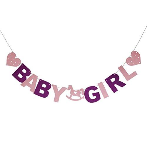 Pixnor Banner Baby Mädchen Baby Shower Party Banner Dekoration