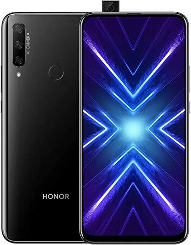 HONOR 9X Smartphone 4GB + 128GB Teléfono Móvil 6,59' FHD+, Cámara Trasera 48MP AI, 16MP Cámara Selfie Emergente, Doble SIM, Auricular Clásico, Cuerpo de Cristal Mágico 3D, Negro