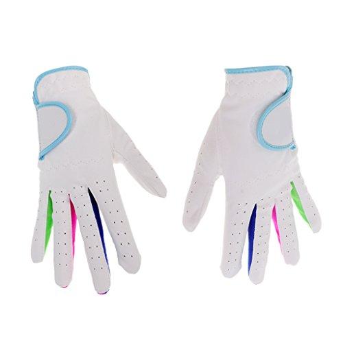 MagiDeal 1Par Guantes de Golf de Fibra Guante respirabile Golf Gloves para niños