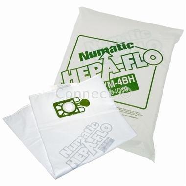 Numatic NVM-4BH 3 Layer Hepaflo Filter Stofzuigerzak Type: NVM-4BH Inclusief 10 x Stofzakken (Type: NVM-4BH - Numatisch)