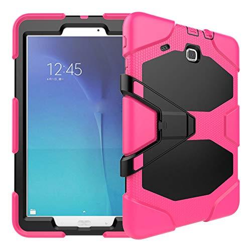 QiuKui Tab Funda Para Samsung Galaxy Tab e T560 SM-T560 9,6 pulgadas, Funda de Kickstand CUBIERTA A prueba de golpes Silicon Tapa de soporte resistente al alto impacto para Samsung Galaxy Tab E 9,6 pu