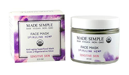 Certified Organic Raw Vegan Cruelty-free Spirulina Hemp Face Mask