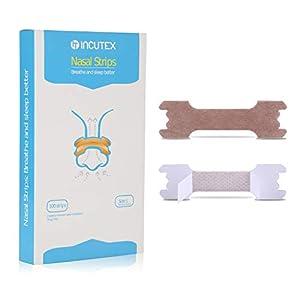 Incutex 50x tiras nasales contra los ronquidos tiritas nasales antirronquidos para respirar mejor, talla L