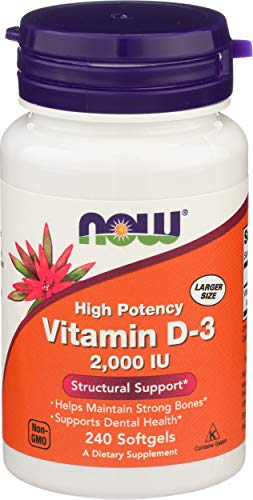 Now Foods Vitamin D3 2000IU Standard - 240 Cápsulas