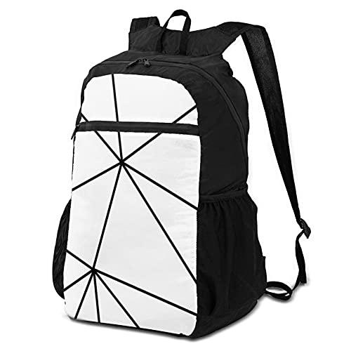 Schulrucksack Aufbewahrungspaket Laptop Rucksack Zara Mono Geometrisch Weiß Schwarz Casual Daypacks Computer Business Rucksäcke Reisetasche Wandern Daypack College Schule Büchertasche