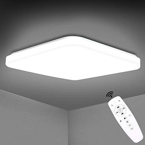 LED Deckenleuchte Dimmbar, SUNZOS 36W 3600LM Deckenlampe mit Fernbedienung, Lichtfarbe und Helligkeit Einstellbar, Lampe für Wohnzimmer, Schlafzimmer, Kinderzimmer, Küche, Flur, Esszimmer, 3000-6500K