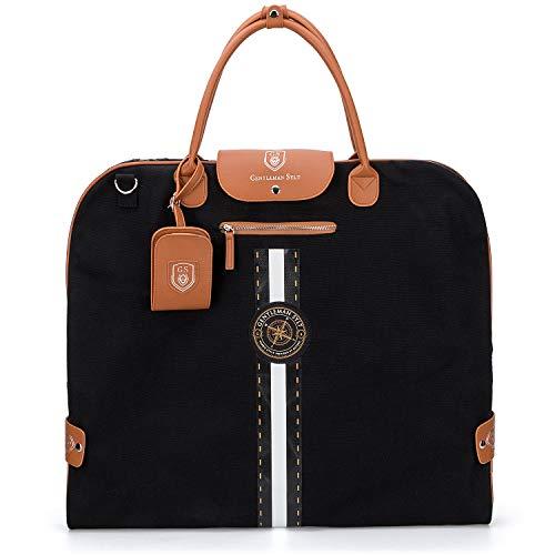 GENTLEMAN SYLT Anzugtasche, Kleidersack Damen & Herren, Kleiderhülle schwarz, Reisetasche zur faltenfreien Aufbewahrung 57x60cm