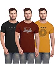 BULLMER Men's Slim Fit T Shirt (Pack of 3)