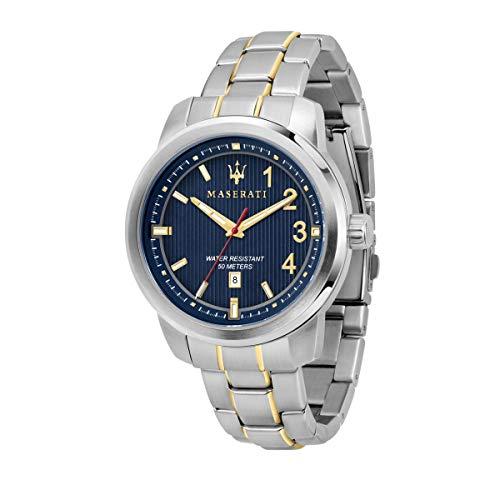 Reloj para Hombre, Colección Royale, Movimiento de Cuarzo, Solo Tiempo, con Fecha, en Acero y PVD Oro Amarillo - R8853137001