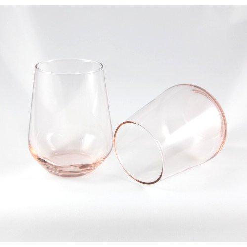 Pasabahce Lot de 3 verres à eau et à jus Rose 425 ml