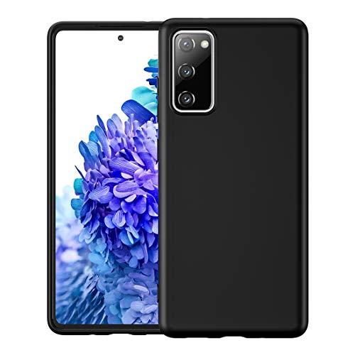 Foluu Galaxy S20 FE 5G Case, Liquid Silicone Gel Rubber Bumper Case with Soft Microfiber Lining Cushion Slim Hard Shell Shockproof Protective Cover for Samsung Galaxy S20 FE 5G 2020 (Black)