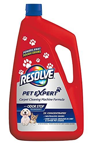 Resolve Pet Steam Carpet Cleaner Solution Shampoo, 96oz, 2X Concentrate, Safe for Bissell, Hoover & Rug Doctor