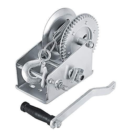 TTLIFE 3500 lbs cabrestante manual de doble engranaje 10 m correa de acero cabrestante...