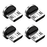Melonboy Micro USB Magnetic Phone Cable Adapter [4-Pack], Magnetic Connector Tip Heads 360° Rotating Magnetic Plug for Micro USB Device