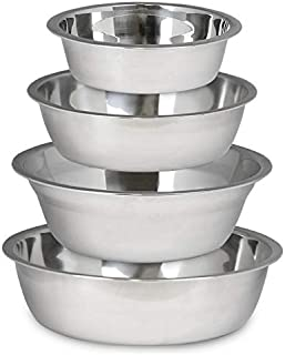 Walnut Stainless Steel pet Bowls, for Puppies and Dogs (Buy 1 get 1 Free) (Small)