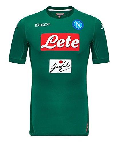 Kappa Maglia Calcio Kombat Gara 2017-2018 Napoli Portiere Uomo Goalkeeper Verde (Medium)