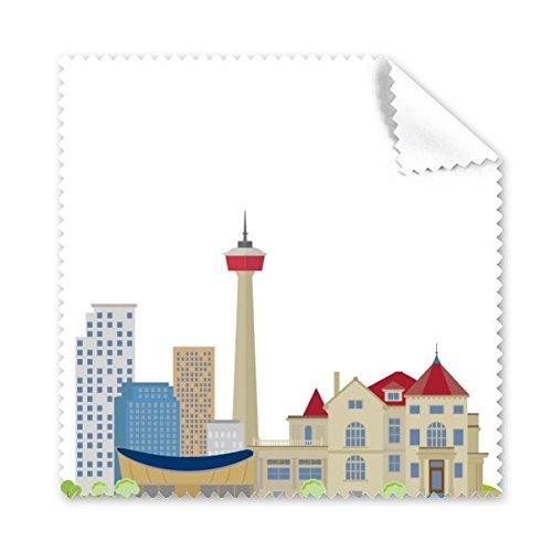 Canada Landmark en Stad Schets TV Toren Cartoon Stijl Kleurrijke Patroon Bril Doek Schoonmaak Doek Telefoon Scherm Cleaner 5 stks