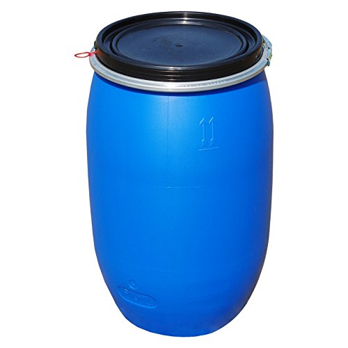 PE Spannring Deckelfass 120 Liter mit UN-X/S Gefahrgutzulassung
