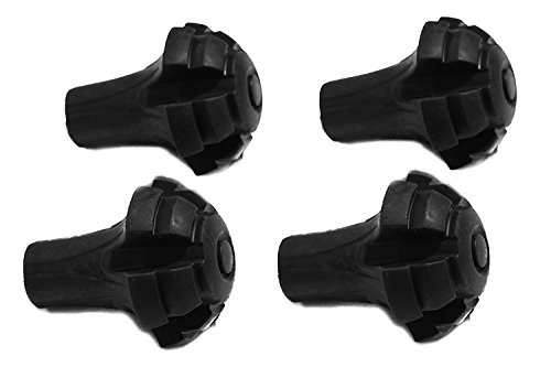 Hiker Hunger Extra Durable Rubber Tips, Paws, Ferrules: Trekking, Hiking, and Snowshoe Poles Accessories & Replacements (4 Pack) - USA Based Brand