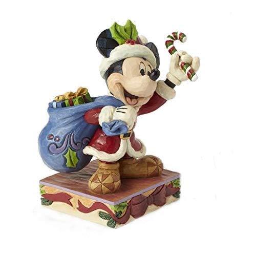 Enesco Disney Tradition By Jim Shore Mickey Babbo Natale sulla Slitta, PVC, Multicolore, 12x13x15 cm