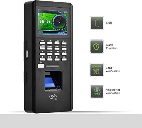 Biom/étrico Inteligente Sistema de Control de Acceso M/áquina de Asistencia de Huellas Dactilares 2.4 Pulgadas TFT LCD Inal/ámbrico Estandarizado y Contrase/ña