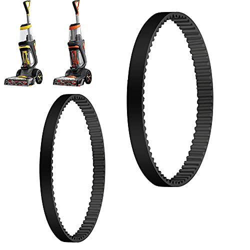 MULTIM Replacement Belts Set Compatible with Bissell ProHeat 2X Revolution Pet Carpet Cleaner, Fits Models 1548, 1550, 1551, 15483, Replace Part Number #1606419 & 1606418 (2 Pack)
